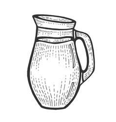 jug with milk sketch engraving vector image