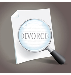 Looking at Divorce vector image