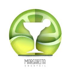 Margarita cocktail icon grainy texture vector