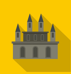 Medieval castle icon flat style vector