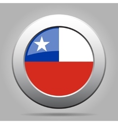 metal button with flag of Chile vector image
