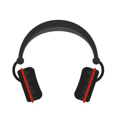 modern headphones icon flat style vector image