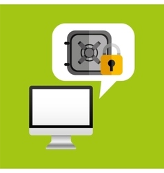 Online protection digital safe money vector