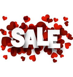 Paper sale love sign vector image