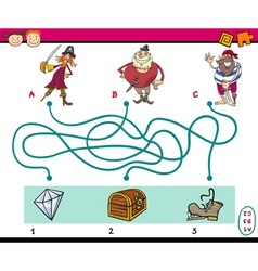 Paths puzzle educational task vector