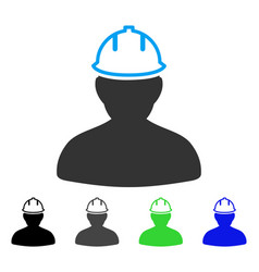 Person in hardhat flat icon vector