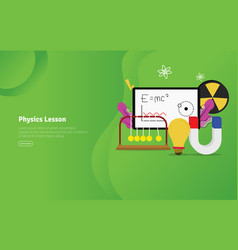 Physics lesson concept educational and scientific vector