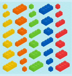 Plastic blocks set vector