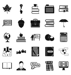 Practice icons set simple style vector