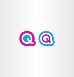 q logo logotype icon letter q vector image