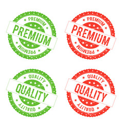 Quality premium seal stamp vector