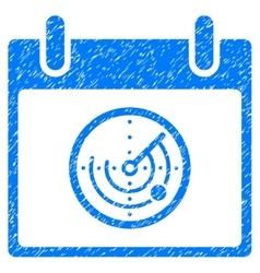Radar Calendar Day Grainy Texture Icon vector image vector image