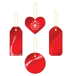 red labels with winter theme vector image