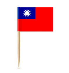 republic china flag toothpick vector image