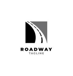 Road way logo design symbol template vector