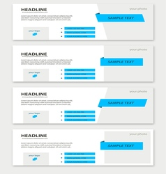Set of facebook timeline blue covers vector