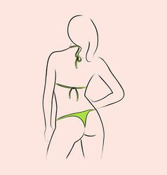 sexy in bikini vector image