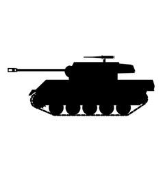 Silhouette tank american world war 2 gun motor vector