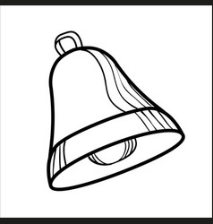 sketch bell isolated on white vector image