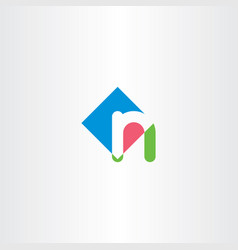 Small letter n icon logo logotype vector