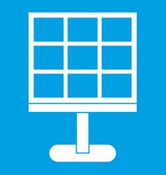 solar battery icon white vector image