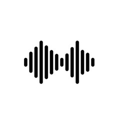 Sound wave from equalizer flat icon vector