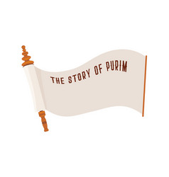 Story of purim jewish acient scroll banner vector