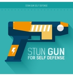 Stun gun for self defense icon vector image
