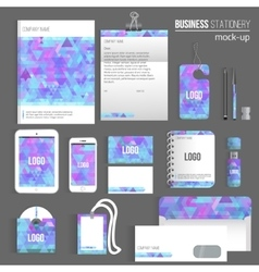 triangle Blank corporate identity set of vector image