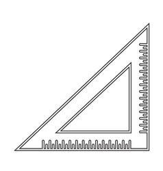 Triangle ruler icon sign design vector