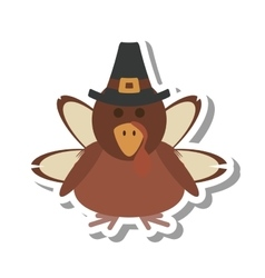 Turkey character thanksgiving icon vector