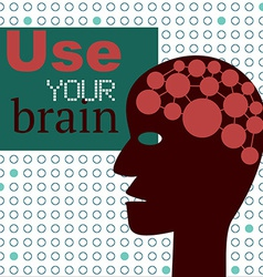 Use Your Brain Concept with Abstract Head vector image