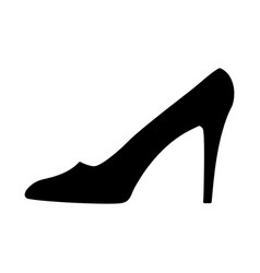 women shoe black sign 1009 vector image
