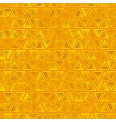Yellow seamless abstract triangles background vector