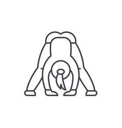 yoga line icon concept yoga linear vector image