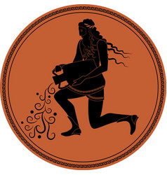 Zodiac in the style of ancient greece aquarius vector