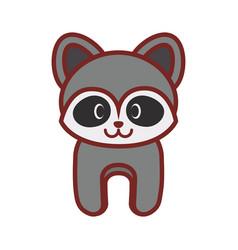 cartoon raccoon animal image vector image vector image