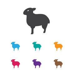 of animal symbol on sheep icon vector image vector image