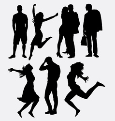 People male and female silhouette vector image vector image