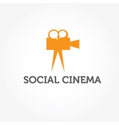 social cinema vector image vector image
