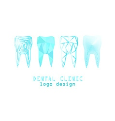tooth logo set vector image vector image