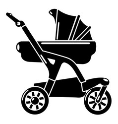 baby carriage designer icon simple black style vector image