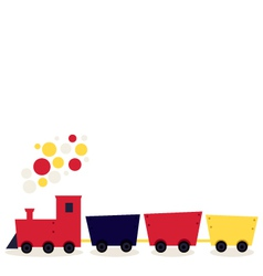 Colorful cartoon Train isolated on white vector image vector image