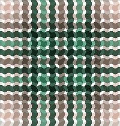 Wave tartan green brown gradient background vector image vector image