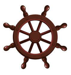 cartoon ship s wheel vector image vector image
