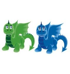Dragons on four legs vector