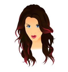 Nice woman portrait vector image