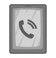 Phone incoming call icon gray monochrome style vector image
