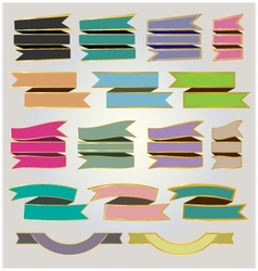 Set colorful ribbons and banners vector image vector image