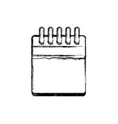 isolated empty calendar vector image